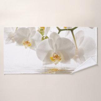 白い蘭のBathタオル バスタオル