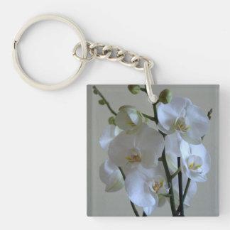 白い蘭 キーホルダー