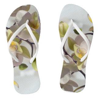 白い蘭 ビーチサンダル