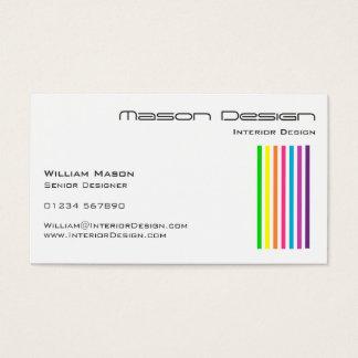 白い虹のストライプな名刺 名刺