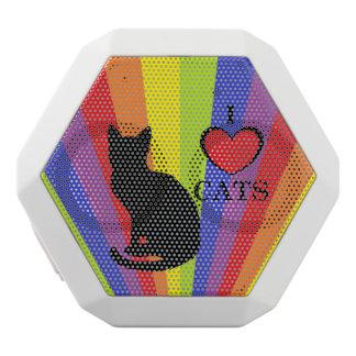 """白い虹のプライド""""私は猫""""のBoombotのレックス愛します ホワイトBluetoothスピーカー"""