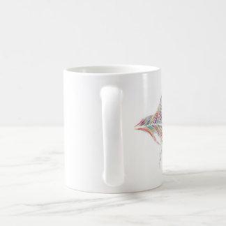 白い虹の羽のマグ コーヒーマグカップ