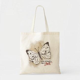 白い蝶は害虫です トートバッグ