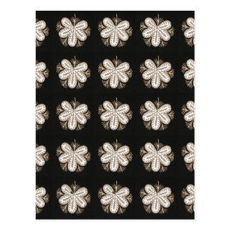 白い蝶一見によってはエレガントな輝きのギフトが開花します はがき