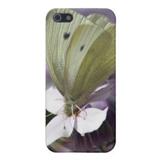 白い蝶及び花のiPhoneのケース iPhone 5 Case
