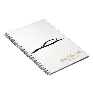 白い螺線形ノート-車情報 ノートブック