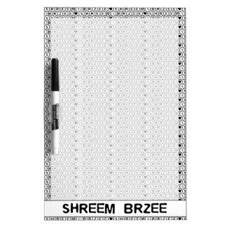 白い詠唱のShreem Brzeeのお金の信念 ドライイレースボード