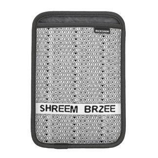 白い詠唱のShreem Brzeeのお金の信念 iPad Miniスリーブ