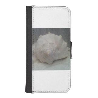白い貝殻 iPhoneSE/5/5sウォレットケース