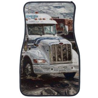 白い貨物トラック、貨物自動車のトラック運転手の大きい装備 カーマット