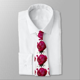 白い赤いバラ ネクタイ