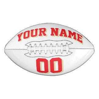 白い赤く、古い金ゴールドの習慣のフットボール アメリカンフットボール