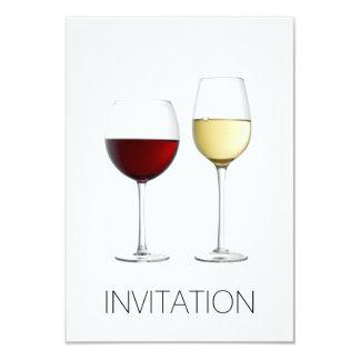 白い赤ワインガラスクラブパーティーVipのミニマルな飲み物 カード