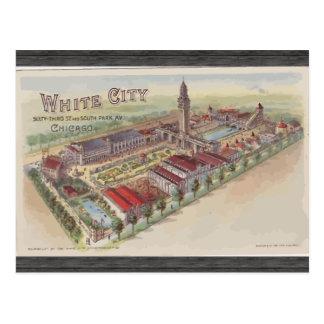 白い都市第63 StおよびサウスパークAvシカゴ ポストカード