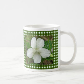 白い野生のすみれ色の調整項目 コーヒーマグカップ