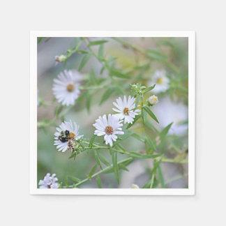 白い野生の花 スタンダードカクテルナプキン