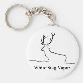 白い雄鹿の蒸気プロダクト キーホルダー