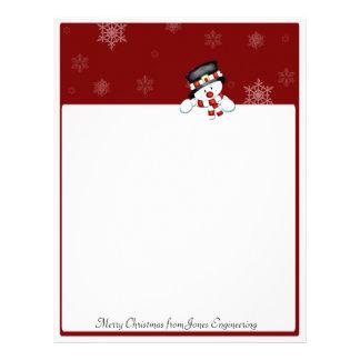 白い雪片との赤のFrostie レターヘッド