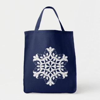 白い雪片のトートバック トートバッグ