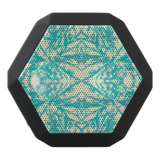 白い雪片の万華鏡のように千変万化するパターンのデザインを離れた水の青 ブラックBluetoothスピーカー