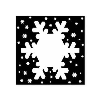 白い雪片パターン ラバースタンプ