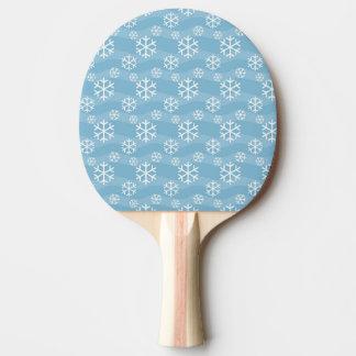 白い雪片パターン 卓球ラケット