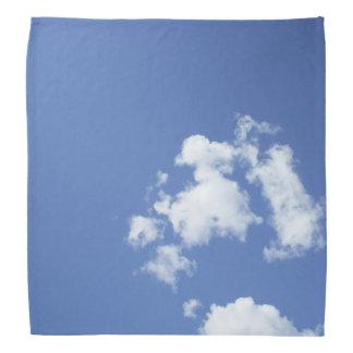 白い雲および青空 バンダナ