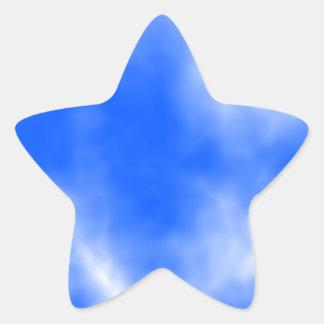 白い雲が付いている青空 星シール