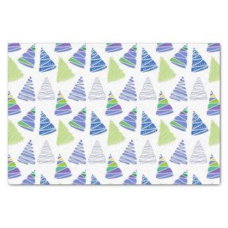 白い青いクリスマスツリー10lbのティッシュペーパー 薄葉紙