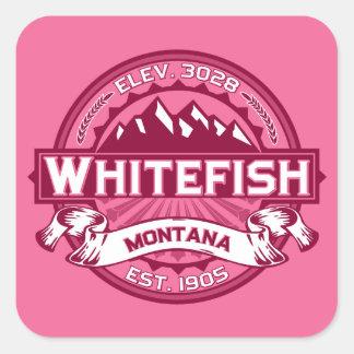 白い魚のハニーサックル スクエアシール