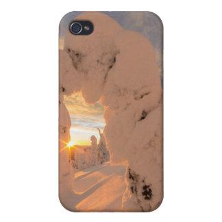 白い魚の範囲の雪の幽霊 iPhone 4/4S ケース