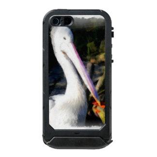 白い鳥および大きいくちばし ウォータープルーフiPhone SE/5/5sケース
