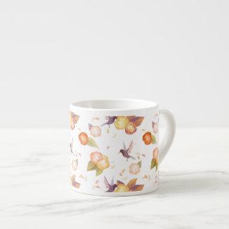 白い鳥のnのバラのコーヒー・マグ エスプレッソカップ