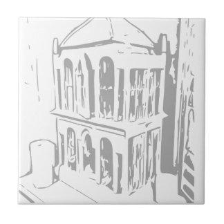 白い鳥籠の紙皿のセラミックタイル タイル