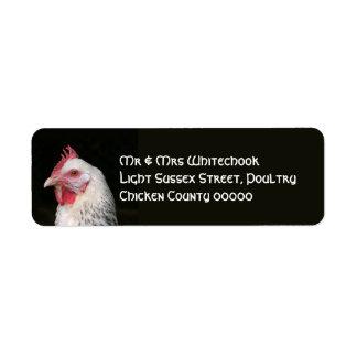 白い鶏 ラベル