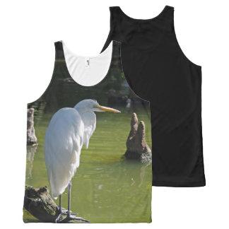 白い鷲 オールオーバープリントタンクトップ