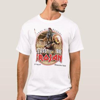 白い(かライト)衣服の30年エディー Tシャツ