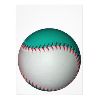白い ティール(緑がかった色) 野球 ソフトボール 自分だけの案内状