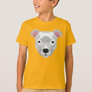 白い(犬)スタッフォードのブルテリア Tシャツ