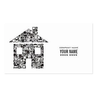白い 現代的 建築 テンプレート ビジネス カード 名刺