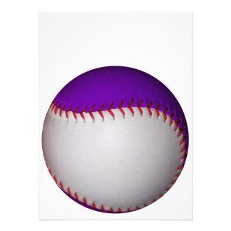 白い 紫色 野球 ソフトボール 自分だけの案内状