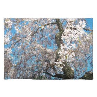 白い、花盛りの木 ランチョンマット