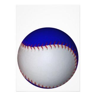 白い 青い 野球 ソフトボール 案内状