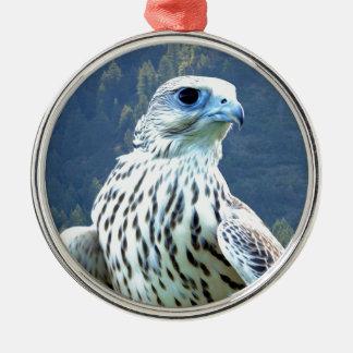 白い《鳥》ハヤブサ メタルオーナメント