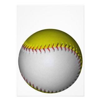 白い 黄色 ソフトボール 野球 自分だけの案内状