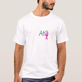 白い@tGのピンクのリボンのワイシャツ Tシャツ