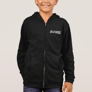 白いAlexARGのロゴのフード付きスウェットシャツの子供 パーカ