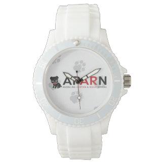 白いAPARNのロゴの足のスポーティな腕時計 腕時計