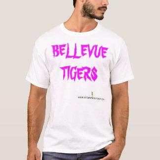 白いATLETICのオウムのワイシャツ Tシャツ
