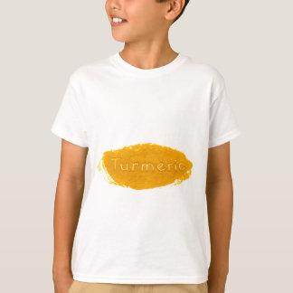 白いbackgrounの粉で書かれるウコンを言い表わして下さい tシャツ